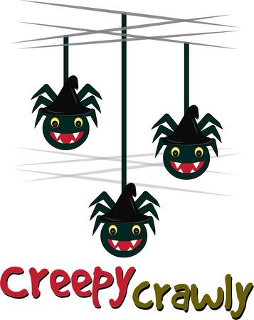 aracnidos: De Halloween trae ara�as asustadizos furtivos cayendo todo Estos ar�cnidos amistosas son una decoraci�n perfecta para un favor fiesta de Halloween