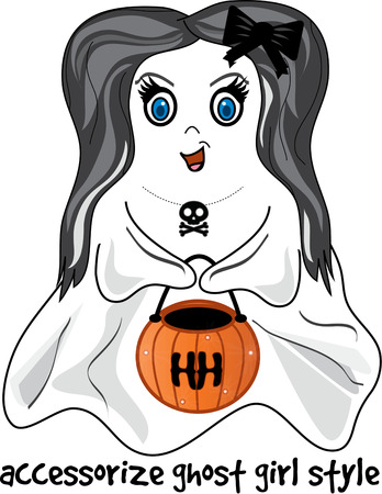 dainty: Not just any ghost but a dainty and sweet little trick or treater.  Add this blue eyed darling to your treat bag and create a bag that is a treasure