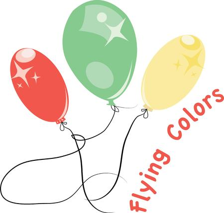 occasions: Balloons make a grest decoration for all special occasions. Illustration