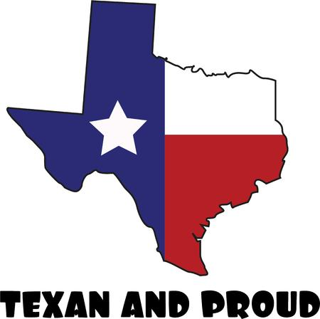 solitary: For the true Texan use this state flag design. Illustration