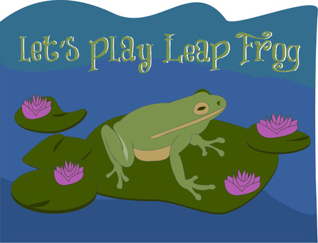 frog on lily pad: Maybe a kiss from a special princess will turn this frog into a handsome prince  What a perfect addition to a princess themed decor for a little princess.