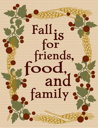 fruit stalk: A frame of the finery of fall creates a lovely surround to a special message of Thanksgiving.  What a lovely autumn garden flag.