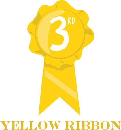 3rd: Use this 3rd place ribbon for your celebration project.