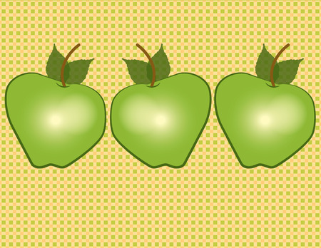 orchards: Delicious and nutritious apples are a perfect snack. Yummy design to add to kitchen gear or snack boxes.