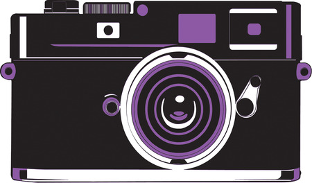 memorable: Create a fun logo for a special photographer with this vintage camera design.  Make a business card that is really memorable. Illustration