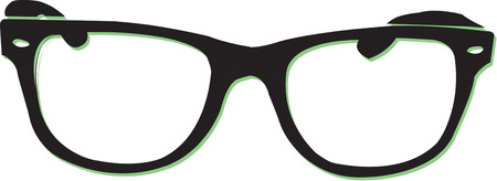 rim: Create a stylish icon with these classic glasses.  Make a business card that is really memorable. Illustration