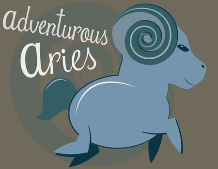 artsy: The sheep of the zodiac in astrology is Aries.  Create something amazing for your favorite Aries with this fun and artsy zodiac design. Illustration