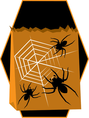 casket: A spider could tie the whole casket with its web.  Get ready for Halloween with this scary motif.