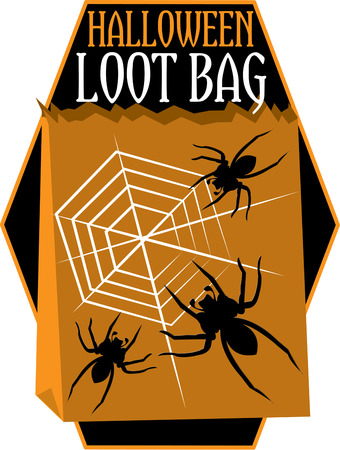 loot: A spider could tie the whole casket with its web.  Get ready for Halloween with this scary motif.