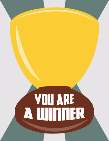 congratulate: Congratulate to the absolute best with this winners cup.  Add some custom text to send a very special message.