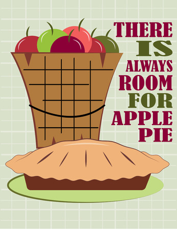 apple pie: Weve turned this bucket of fresh juicy apples into the most delicious apple pie ever  A lovely decoration for any pastry linen.