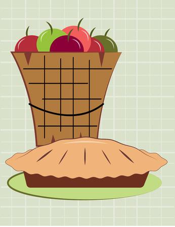 pastel de manzana: Hemos convertido este cubo de jugosas manzanas frescas en la m�s deliciosa tarta de manzana nunca Una decoraci�n preciosa para cualquier ropa de pasteler�a.