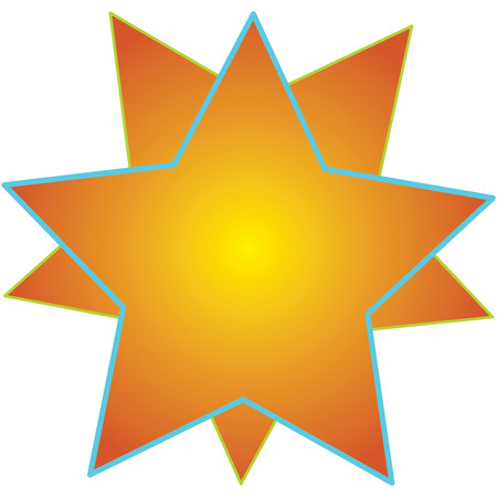 time to shine: Two intertwined stars can say so much.  Add your text or use just this way.  Perfect way to add a hint of shine and sparkle. Illustration