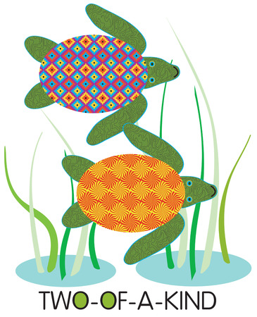 masterpiece: Sea turtles with patchwork shells make an interesting combination.  We love this design series as quilt blocks creating a stunning masterpiece.