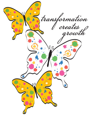 right choice: Butterflies are always lovely but add some paint splatters and they are a visual masterpiece  Their lovely wings are always the right choice for decorating apparel or dcor for your home. Illustration