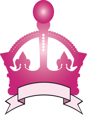 sash: We have got a big pink crown for a special kind of royalty.  Add some text of your own to recognize the regal member of your family.