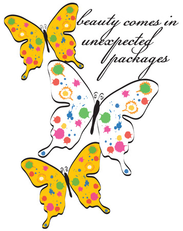 masterpiece: Butterflies are always lovely but add some paint splatters and they are a visual masterpiece  Their lovely wings are always the right choice for decorating apparel or dcor for your home. Illustration