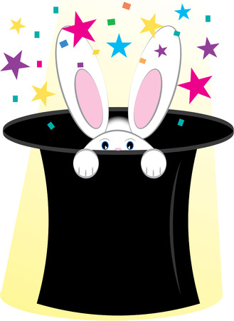 fortuneteller: A hat full of magic has to contain a bunny rabbit  Create some magic of your own with this fun magic design. Illustration