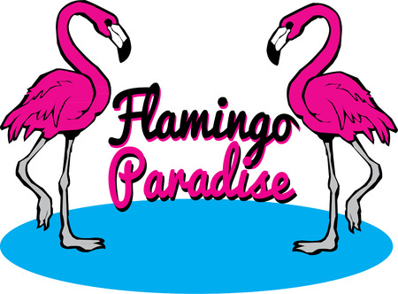 flamingi: A pair of bright pink flamingos is an amazing way to make your creations unique.  Unexpected fun wherever they land