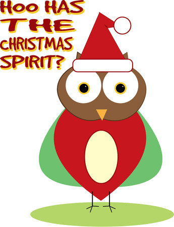 holiday tradition: Add a trendy touch to holiday tradition with this Santa hat owl.  We love him stitched in a row on a tree skirt.