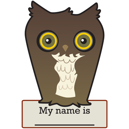hes: Hes not your typical owl!  He is a super trendy way to turn your special creations into amazing works of art! Illustration