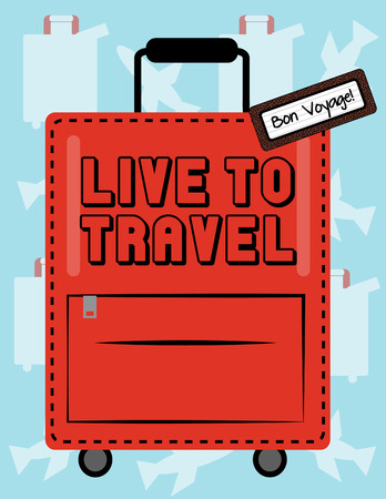 overnight: Like your own life may this journey be full of surprises and fun. Bon voyage  a perfect design for travel companies. Illustration