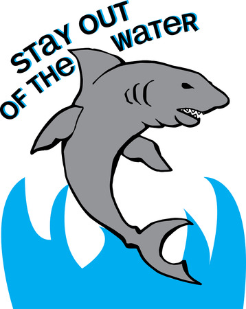 marine scene: Heres the most fierce creature in the sea  Our jumping shark is a favorite decoration for little boy gear.
