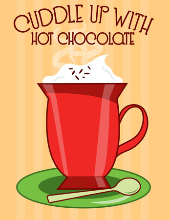 cold weather: When the weather is cold few things are as welcome as a big mug of cocoa  Hot chocolate hits the spot and this mug looks great on a little cloth bar napkin.