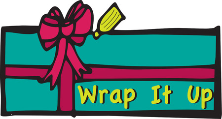 wrap wrapped: Wrap up something extraordinary for your Christmas gift.  Add this gift onto a holiday table napkin for the best wrapped table top