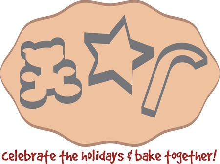 cookie cutter: Were rolling out a batch of pretty holiday cookies.  Teddy star and candy cane cookies are so sweet on your Christmas centerpiece.