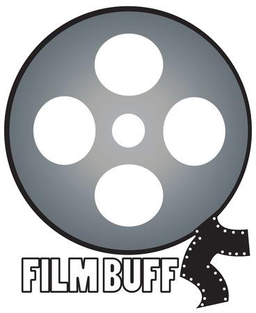 buff: Pel�culas cl�sicas en rollos de pel�cula son una delicia para el aficionado al cine Gran dise�o para una chaqueta o camisa para el cr�tico de cine aspirante.