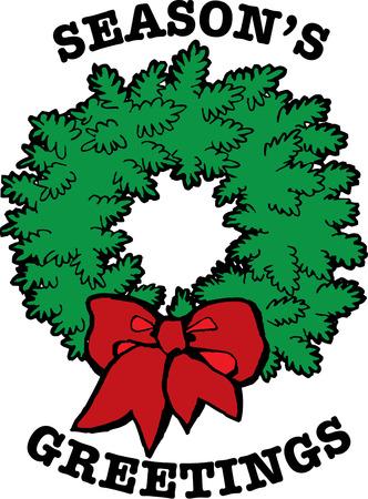 proper: Ogni casa ha bisogno di una vera e propria corona di fiori per decorare per le vacanze. Il nostro Corona di Natale � una decorazione perfetta per voi biancheria da tavola vacanza. Vettoriali