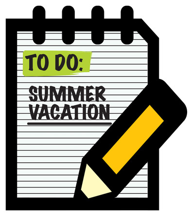 writing pad: Even if schools out, keep your pencil sharp and your skills up.  Create a study over summer reminder with this sharp design.