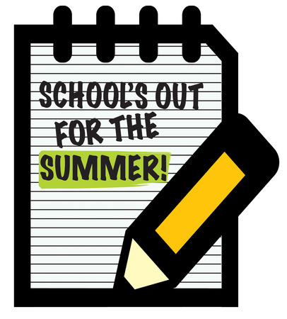writing pad: Even if schools out keep your pencil sharp and your skills up.  Create a study over summer reminder with this sharp design.
