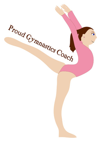 something athletic: Our lovely gymnast displays her athletic abilities with this floor routine.  Use this design to create something amazing for your favorite gymnast.