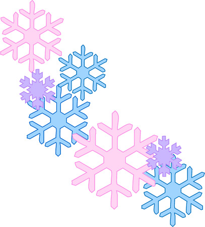 natures: Snowflakes are one of natures most fragile blessings.  These striking flakes of pink and blue are the perfect way to create a winter masterpiece of your own.