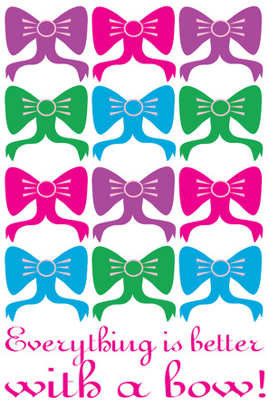 riband: Ribbons and bows are the perfect accessory because everything looks better with a bow  Create a fun bow rack featuring this colorful block of bows.