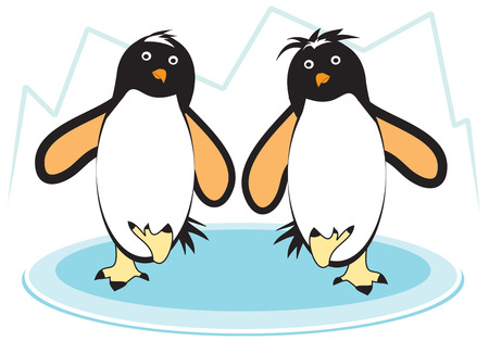 aquatic bird: Its practically impossible to look at a dancing penguin and not smile  Add a smile to your projects with these dancing polar birds. Illustration