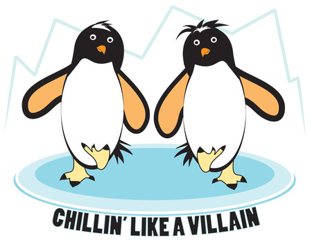 seabird: Its practically impossible to look at a dancing penguin and not smile  Add a smile to your projects with these dancing polar birds. Illustration