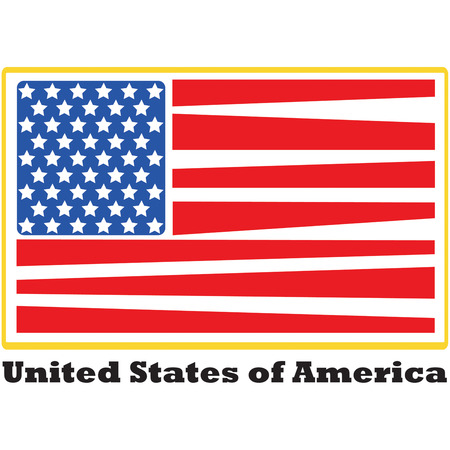 eyecatcher: Heres a perfectly patriotic American Flag.  The stripes are given an artistic flair that make this design a real eyecatcher  Great flag for sleeves. Illustration