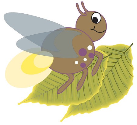 adds: A happy lightning bug on a leaf is a bright spot on a summer night.  His happy face adds a special charm to your crafty creations.