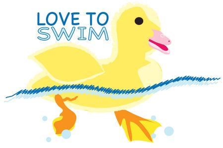 seguir adelante: Seguir adelante y hacer un chapoteo. Crear equipo de nadar perfecto con este peque�o patito de super lindo