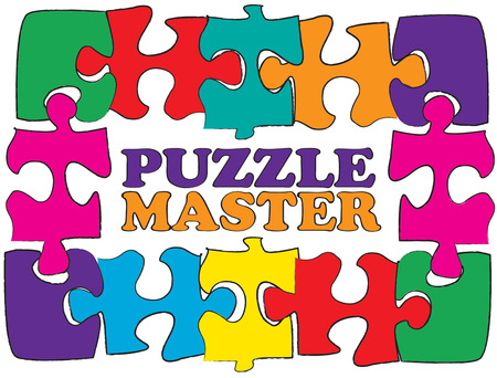 masterpiece: Fit the pieces just right and youve created a masterpiece.  Make this puzzle frame part of your own masterpiece Illustration