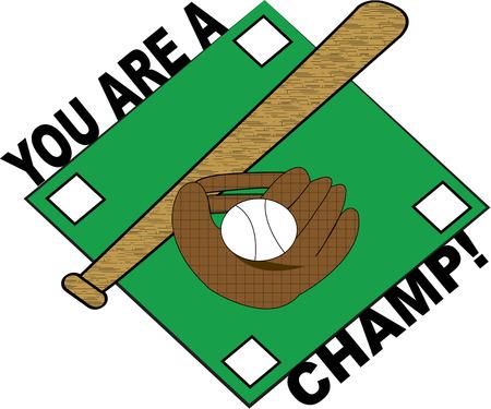 baseball diamond: Ilustraci�n de dibujos animados de b�isbol estadounidense Vectores