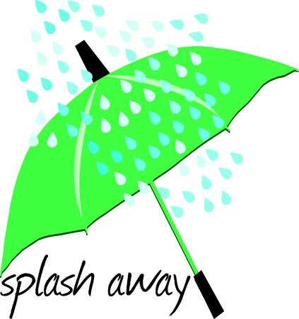 brolly: Ilustraci�n verde del paraguas Vectores