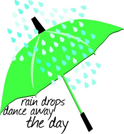 brolly: Green umbrella illustration