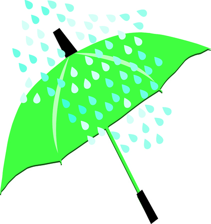 brolly: Green umbrella illustration