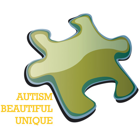 disorders: Autism awareness concept using jingsaw puzzle illustration