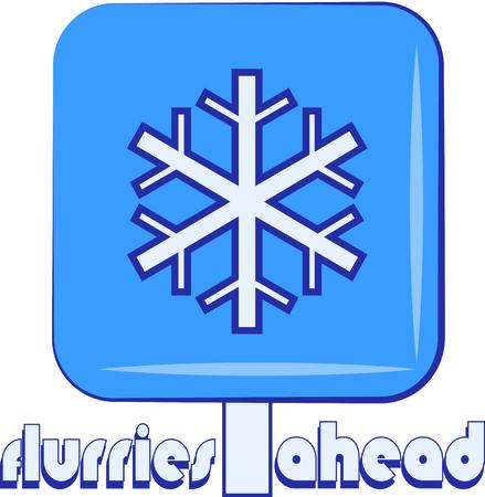flurry:  Snowing sign illustration icon Illustration