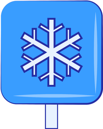 flurry: Snowing sign illustration icon